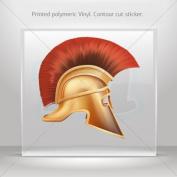 Stickers Decals Spartan Warrior Helmet car helmet window bike Garage door 0500 W8W99