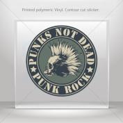 Decals Sticker Punks Not Dead car helmet window Boat jet-ski Garage door 0500 RSX74