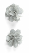 Jolee's Boutique Dimensional Stickers, Grey Burlap Flower