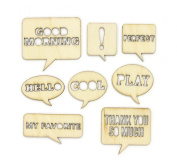 Wood Veneer - Speech Bubbles