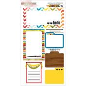 Colour Me Happy Cardstock Stickers 15cm x 28cm -Journaling
