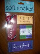 Me & My Big Ideas SOFT SPOKEN Embellishments - ATTITUDE - Scrapbook & Card Making
