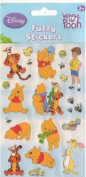 Pooh Fuzzy Sticker Sheet Scrapbooking