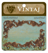 Vintaj 2-Piece Scrolled Ornate Corner Embellishments, 78 by 34mm