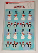 Christmas Snowmen & Penguin Stickers