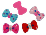 Resin Bow Flower Gem Flatbacks Scrapbooking Embellishments Cabochon Alligator Clips Making Appliques 10 Pieces