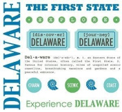 Delaware Stickers USA // SRM Stickers