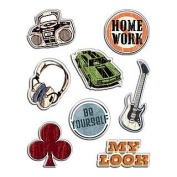 American Traditional Design Gem Stickers-A Guy's Life