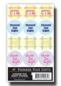 LDS Acid-free Round CTR 72 Stickers - 12 Stickers Per Page, 6 Pages
