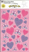 Hearts Princess Unicorn Scrapbook Stickers