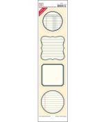Matte Cardstock Label Strip Stickers 3.5 X14 -Vintage