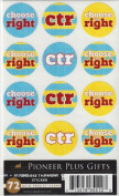 LDS Acid-free CTR 72 Round Stickers - 12 Stickers Per Page, 6 Pages