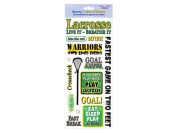 Forever In Time Clear Sticker, Lacrosse, 13cm x 30cm