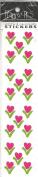 Hearts Flowers Scrapbook Stickers