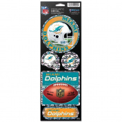 Miami Dolphins Prismatic Stickers