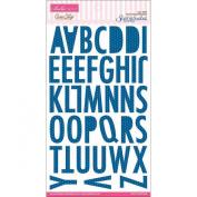 Sophisticates Chipboard Alphabet 15cm x 24cm -Sienna/Blueberry