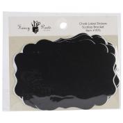 Fancy Pants Scallop Bracket Chalk Label Scrapbook Stickers