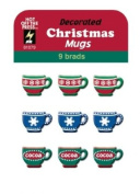 Hot Off The Press - Decorated Christmas Mugs Brads