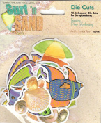 Surf and Sand Embossed Diecuts for Scrapbooking
