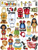 Repositionable Dress-Ups International Boy and Girl