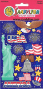 America Patriotic Theme Scrapbook Stickers