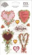 Captive Heart I Love You Scrapbook Stickers