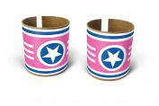 Box Play for Kids Pink Superstar Bracelets Toilet Paper Roll Stickers