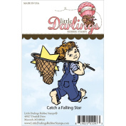 Little Darlings Unmounted Rubber Stamp-Catch A Falling Star