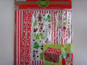 Christmas Paper Craft Pack Stickers Wrapping ; 48 pieces