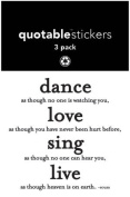 Quotable Sticker Dance Love Sing Live