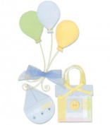 Westrim Paper Bliss Embellishments - Baby Boy Party