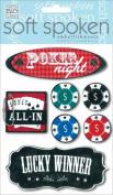 Soft Spoken Themed Embellishments-poker Night