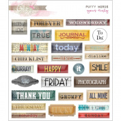 Glitz Design - Yours Truly Collection - Puffy Stickers - Words