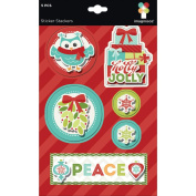 Imaginisce Colours of Christmas Sticker Stackers Dimensional Stickers
