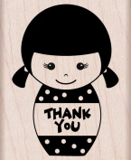 Hero Arts Thank You Girl Woodblock Rubber Stamp