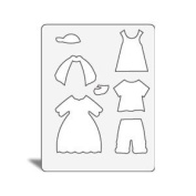 Accucut Jill's Paper Doll Template - Spring