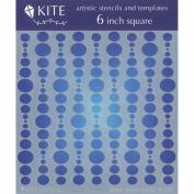 Judikins 15cm Square Kite Stencil-Bubble Curtain