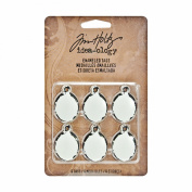 Tim Holtz Enamelled Tags - Ranger Idea-ology Package of 6 Tags
