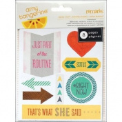 American Crafts Amy Tangerine Cut & Paste Good Stuff Accent Phrase Stickers