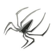 Cool Silver 3D Spider Spiderman Emblem Car Decal Sticker