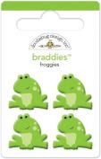 Key Lime Braddies Brads 4/Pkg-Froggies