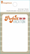 Imaginisce Perfect Vacation Travel Bags Scrapbook Die Cut Paper Pad