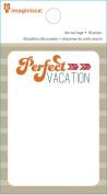 Imaginisce Perfect Vacation Travel Bags Scrapbook Die Cut Paper Pad
