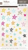 Studio Calico Printshop Vellum Star Scrapbook Sticker Embellishments