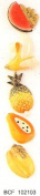 TROPICAL FRUITS - Flat backed ceramic - Pack of 5