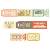 Fancy Pants Happy Go Lucky Ticket Roll Embellishments