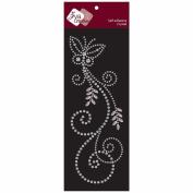 Self-Adhesive Jewel Embellishments 7cm x 18cm Sheet-Fancy Butterfly Clear