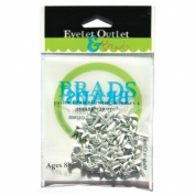 Eyelet Outlet 4mm Round Brads 70/Pkg-White