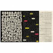 Joyous Cardstock Stickers 30cm x 20cm -Elements Diction Mini Words/Type Alpha
