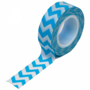 Trendy Tape 15mm X 10yds-Chevron Blue